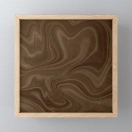 Chocolate Brown Swirl Framed Mini Art Print
