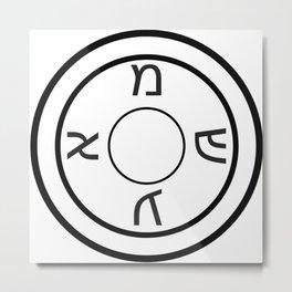 Shield of Our Ancestors Amulet Metal Print