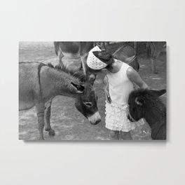Donkey Whisperer Metal Print