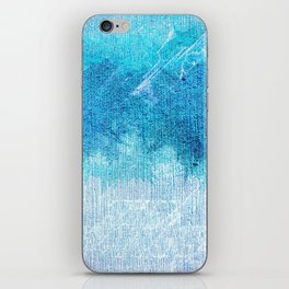 Abstract textured Teal blue Art iPhone Skin