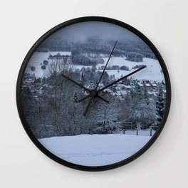White Snowy Brotterode Wall Clock