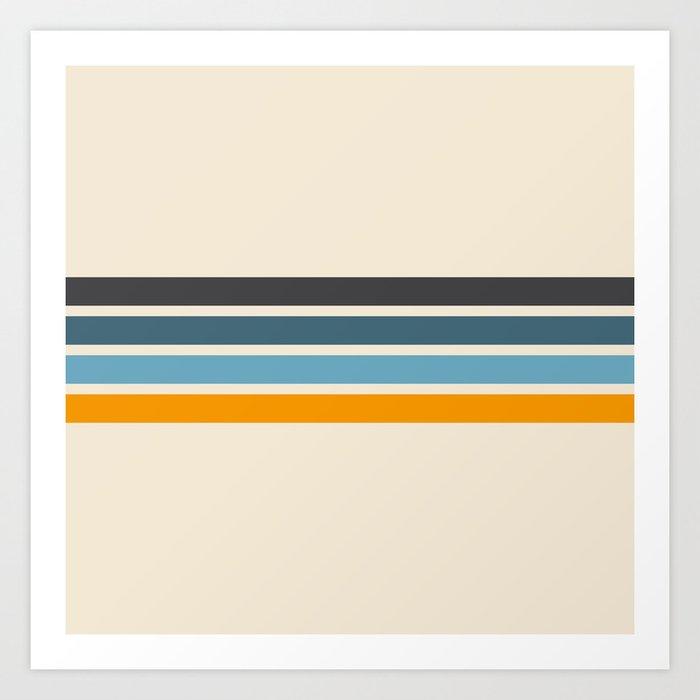 Vintage Retro Stripes Kunstdrucke