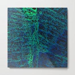 Mint Green Electronic Maze Metal Print