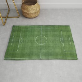 Soccer Field, Football Field, Green Grass Football Field Background Rug