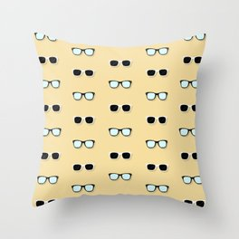 All Them Glasses - Yellow Throw Pillow