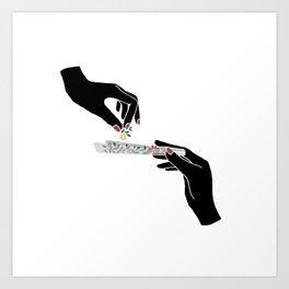 Flower roll / Illustration Kunstdrucke