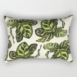calathea botanical interior plant Rectangular Pillow