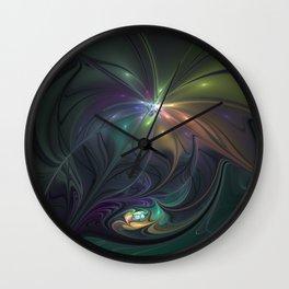 Delightful Fantasy, Abstract Fractal Art Wall Clock