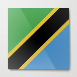 Tanzania flag emblem Metal Print