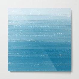 Mosaic Blue Paint Gradient Metal Print