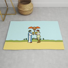 Cute Couple Rug