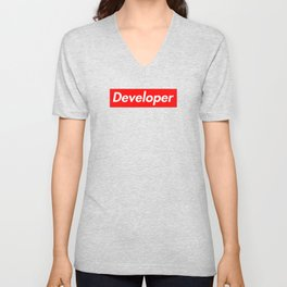 Developer - Programmer supreme Unisex V-Neck