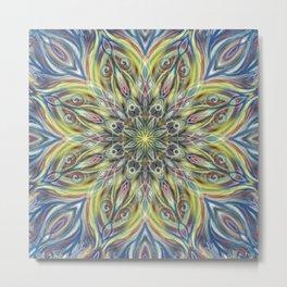 Colorful Center Swirl Metal Print