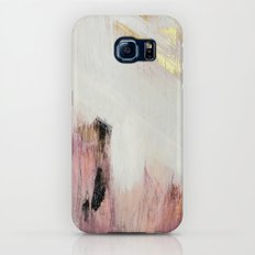 Sunrise [2]: a bright, colorful abstract piece in pink, gold, black,and white Galaxy S8 Slim Case