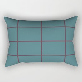 Deep Purple Aqua Criss Cross Stripe Pattern Pairs 2021 Color of the Year Epoch and Whale Tail Rectangular Pillow