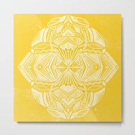 Solana, fall golden mandala Metal Print