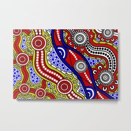 Authentic Aboriginal Art - Welcome to Country Metal Print