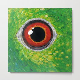 Amazon parrot eye Metal Print