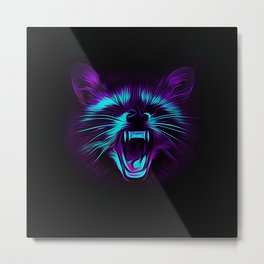 Raccoon Metal Print