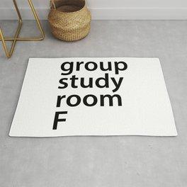 Group study room F Rug