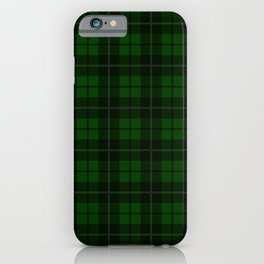 Forest Green Plaid iPhone Case