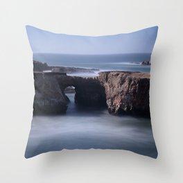 Keyhole Rock Arches Point Arena California Throw Pillow