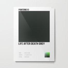 LIFE AFTER DEATH GREY Metal Print