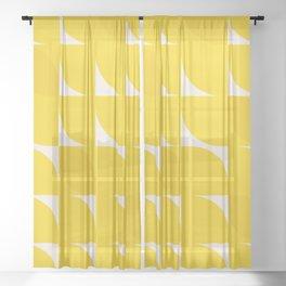 yellow glow Sheer Curtain