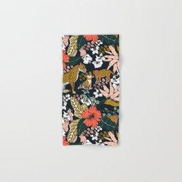 Animal print dark jungle Hand & Bath Towel