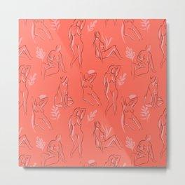 Coral Women Metal Print