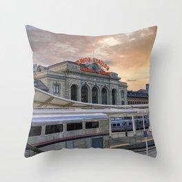 Union Station - Denver, Colorado Part II Throw Pillow