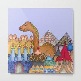 Dinosaur in Egypt Metal Print