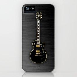 Black Gibson Les paul Custom iPhone Case