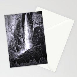 Bridalveil Falls. Yosemite California in Black and White Stationery Cards