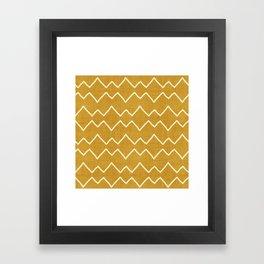 Urbana in Gold Framed Art Print
