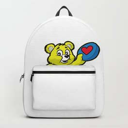 Ultimate FRISBEE TEDDY BEAR Catch funny Backpack