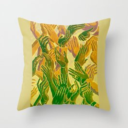 Hand Aesthetic Throw Pillow