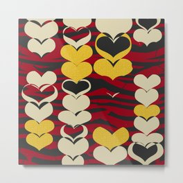 HAPPY HEARTS N7 Metal Print