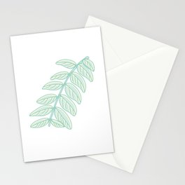 Pinnated Compound Leaves Illustration Stationery Cards