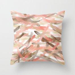 Blush Glow Smudge Throw Pillow