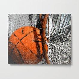 Basketball and hoop vs 131 Metal Print