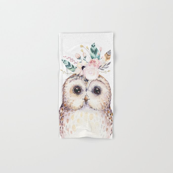 Forest Owl by Nature Magick Hand & Bath Towel