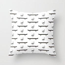 Skateboard and Helmet Pattern Throw Pillow