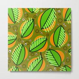 Abstract leaf pattern Metal Print