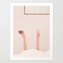 Good Peaceful Morning Art Print