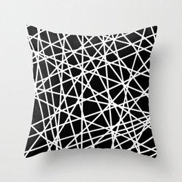Lazer Dance B&W 1 Throw Pillow