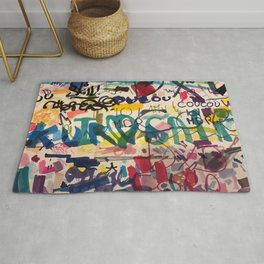 Urban Graffiti Paper Street Art Rug