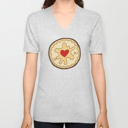 Jammy Dodger British Biscuit Unisex V-Neck
