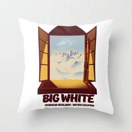 Big White Ski Canada Throw Pillow
