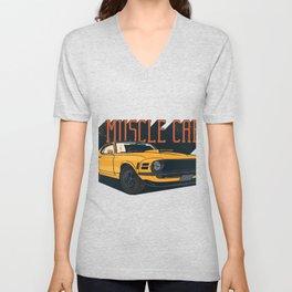 Car Vintage Muscle Car Unisex V-Neck